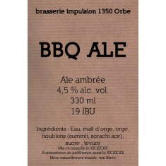 L'Impulsion - BBQ ALE 33cl Ambrée 4.5°