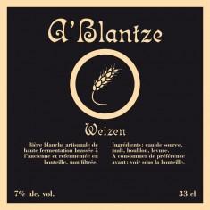 Brasserie Mortier -  A Blantze 33cl Blanche 7°